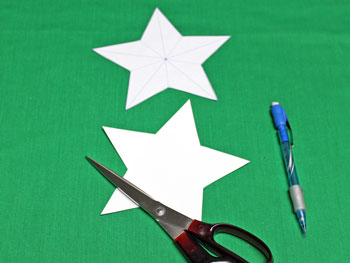 5 Point Star Santa Ornament step 1 cut star