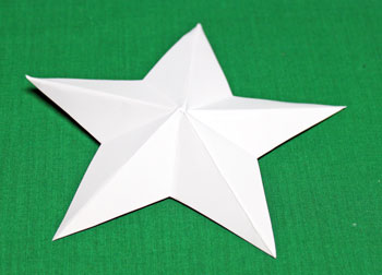 5 Point Star Santa Ornament step 2 fold star