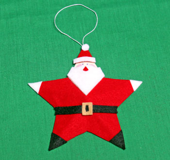 5 Point Star Santa Ornament step 24 shape star