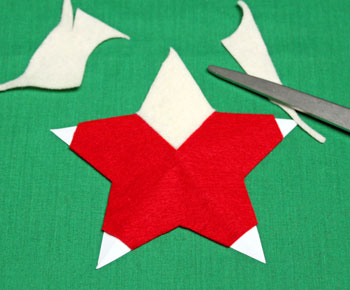 5 Point Star Santa Ornament step 9 trim head
