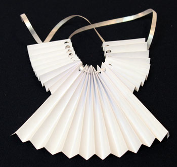 Funezcrafts easy angel crafts accordian folded paper for Angel tree decoration template