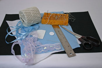 Easy Angel Crafts Angel Gift Bag materials and tools