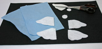 Easy Angel Crafts Angel Gift Bag cut felt shapes