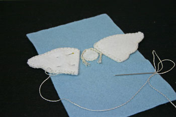 Easy Angel Crafts Angel Gift Bag do same steps for second wing