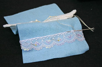 Easy Angel Crafts Angel Gift Bag position lace across the bottom below face