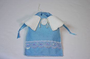 Easy Angel Crafts Angel Gift Bag finished bag