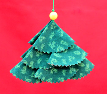 Calico Semi Circles Christmas Tree