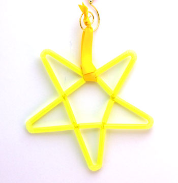 Chenille Wire & Straw Star