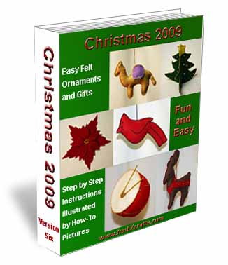christmas 2009 easy craft felt ornaments craft books