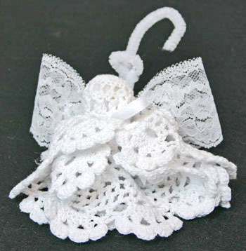 Easy Angel Crafts Doily Angel finished angel