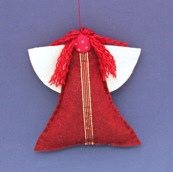Easy Angel Crafts Felt Triangle Angel hanging as a decoration