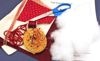 Easy Angel Crafts Felt Triangle Angel materials and tools