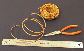 Easy Angel Crafts Spiral Wire Angel step 1 measure and cut wire