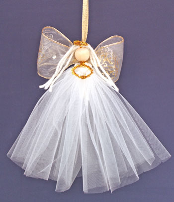 Easy Angel Crafts Tulle Angel hanging as decoration