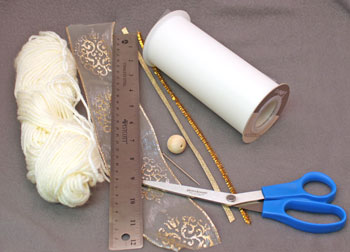 Easy Angel Crafts Tulle Angel materials and tools