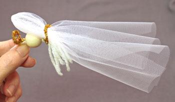 Easy Angel Crafts Tulle Angel step 10 fold tulle in half
