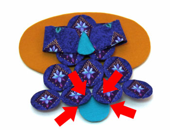 Easy Angel Crafts Yo Yo Angel Ornament step 18 attach feet