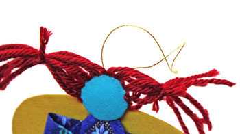 Easy Angel Crafts Yo Yo Angel Ornament step 25 add hanging loop