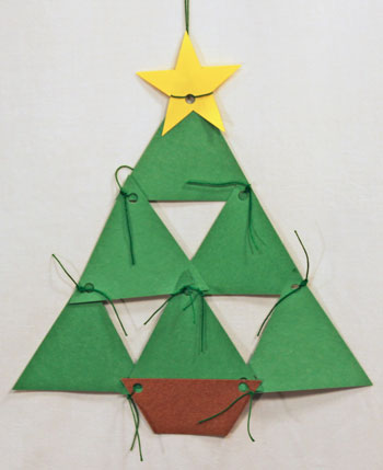 funEZcrafts - Easy Christmas Crafts: Construction Paper Triangles ...