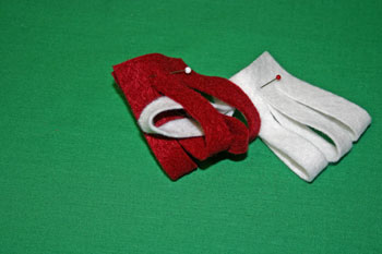 Easy Christmas Crafts Felt Basket weave white through red