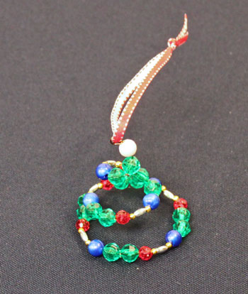 Easy Christmas Crafts Spiral Beaded Christmas Ornament Step 11 separate spiral rings