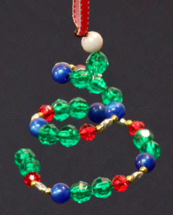 Spiral Beaded Christmas Ornament