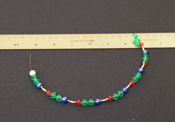 Easy Christmas Crafts Spiral Beaded Christmas Ornament Step 5 add remaining beads