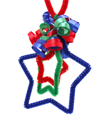 Three Stars Chenille Ornament