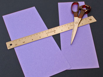 Easy Christmas Crafts Construction Paper Fan Ornament Step 1 measure and cut paper