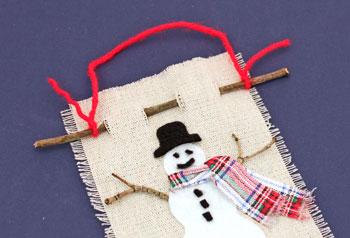 Funezcrafts Easy Christmas Crafts Felt And Twig Snowman