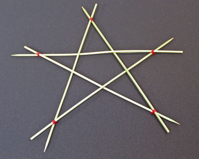 Five Point Wooden Star