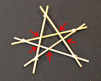 Easy Christmas Crafts Five Point Wooden Star smaller star