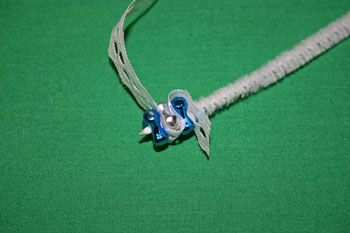 Easy-Christmas-crafts-Beaded Christmas wreath blue silver add lace add bead
