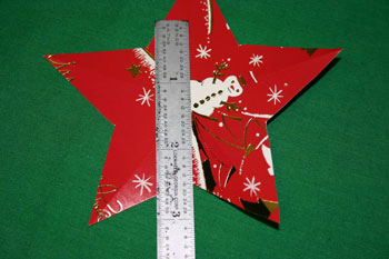 Easy Christmas crafts five point star fold between points