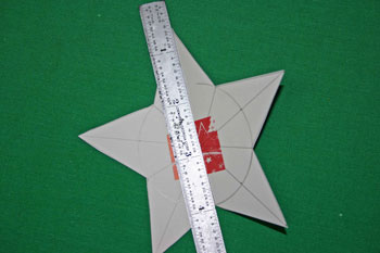 Easy Christmas crafts five point star fold points