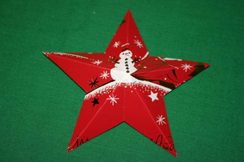 Easy Christmas crafts five point star folded front