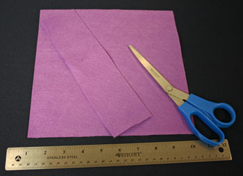 Easy Felt Crafts Handkerchief Valet cut felt