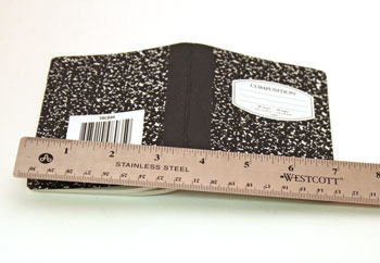 Easy Felt Crafts Notepad Cover1 step 1 measure width of opened notepad