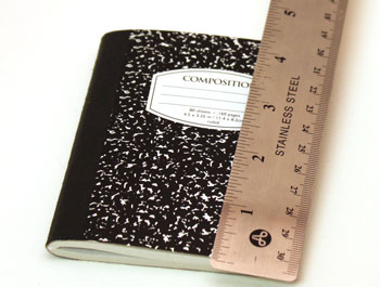 Easy Felt Crafts Notepad Cover1 step 2 measure height of notepad