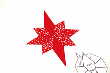 Easy Paper Crafts 8 Point Star step 5 glue remaining points