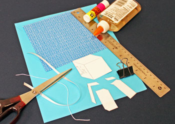 Easy Paper Crafts Gift Box Gift Tag materials and tools