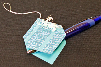 Easy Paper Crafts Gift Box Gift Tag step 15 address the finished gift tag