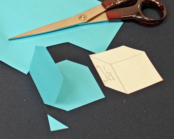 Easy Paper Crafts Gift Box Tag Step 2 Cut Out Shape