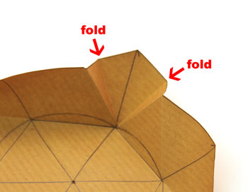 Easy Paper Crafts Six Point Star Step 11 fold corners inside