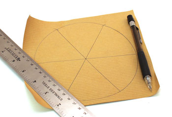 Easy Paper Crafts Six Point Star Step 4 draw 60 degrees lines