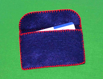 Easy felt crafts business card holder with debit credit membership cards