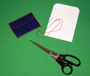 Easy felt crafts business card holder step 6