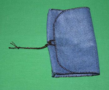 Easy felt crafts coupon holder finished closed