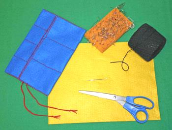 Easy felt crafts jewelry roll materials tools