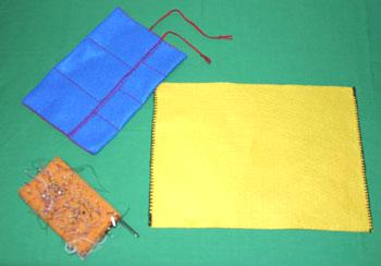 Easy felt crafts jewelry roll step 1